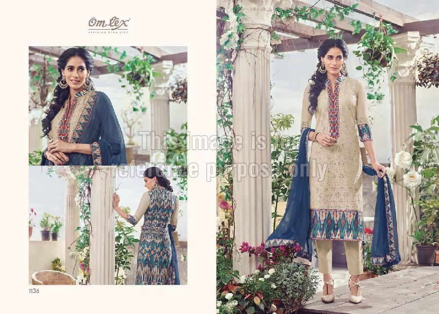 Embroidered Chicken Shirt with Palazzo and Chiffon Dupatta