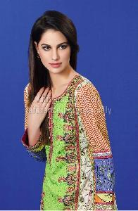 Designer Pakistani Kurti in Lawn Cotton