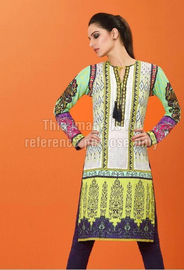 Pakistani Embroidered Cotton Kurti