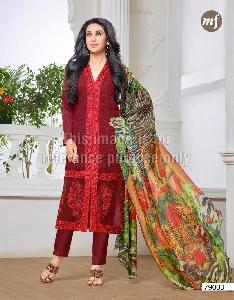 Designer Georgette Straight Cut Suit