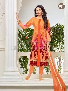 Georgette Straight Suit with Embroidery