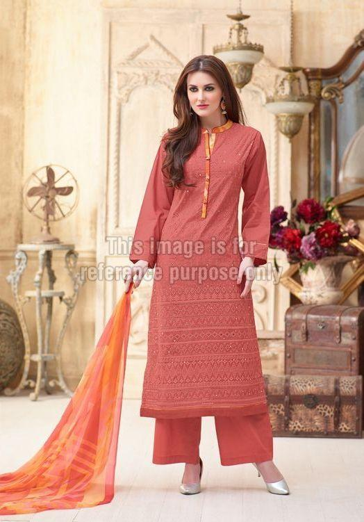 Printed Straight Suit with Plazo
