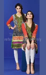 Designer Pakistani Embroidered Kurti in Lawn Cotton