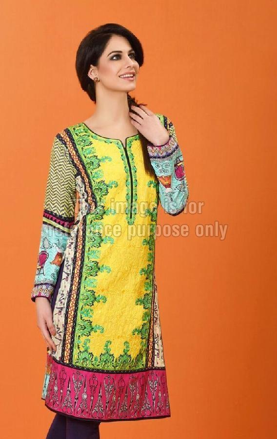Lawn Cotton Pakistani Kurti with Embroidery