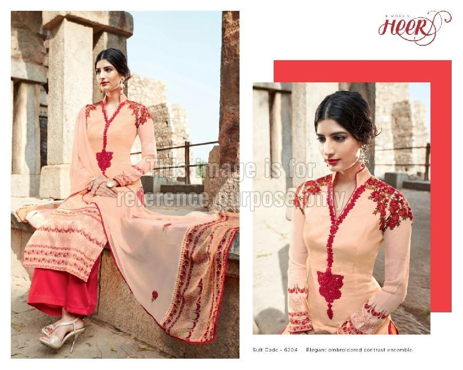 Designer Embroidered Suit with Palazzo