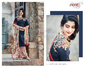 Floral Print Designer Suit with Printed Dupatta