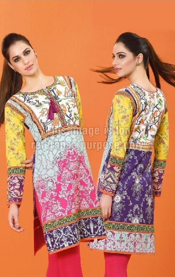 Pakistani Embroidered Kurti in Cotton