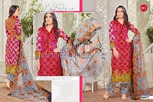 Lawn Cotton Embroidered Suit and Chiffon Dupatta