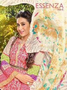 Lawn Cotton Embroidered Suit with Chiffon Dupatta