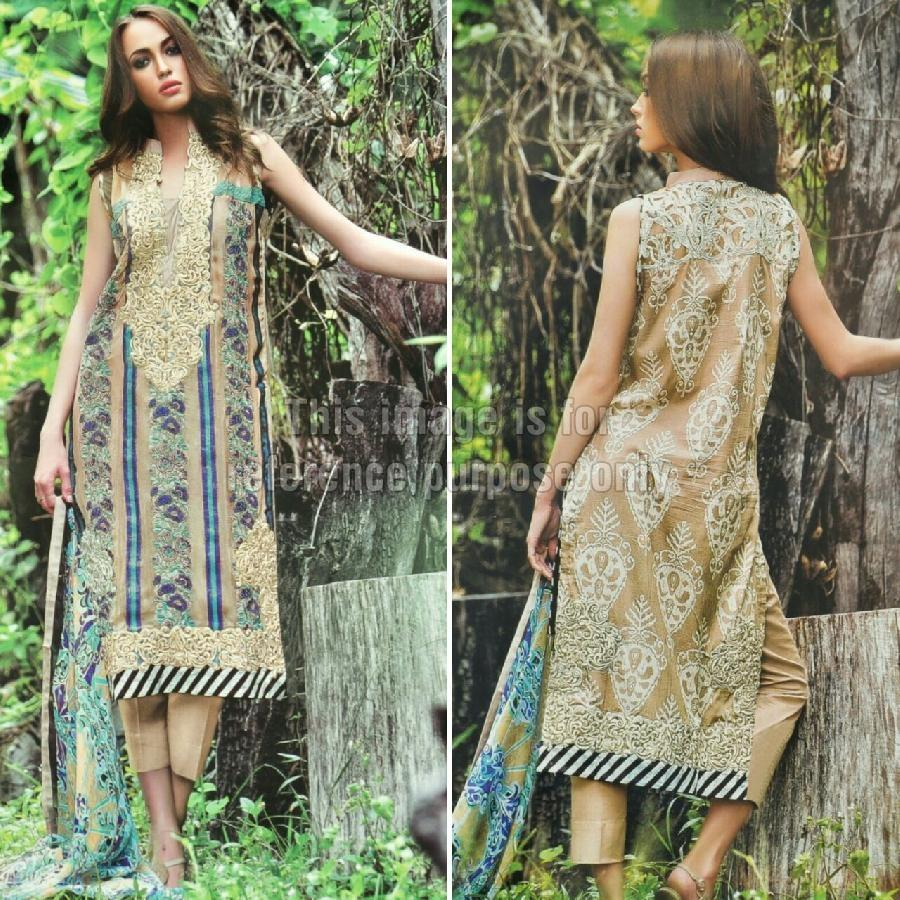 Printed Cambric Suit and Chiffon Dupatta
