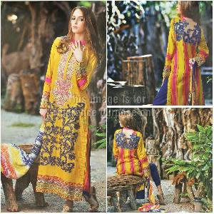 Cambric Printed Suit and Chiffon Dupatta
