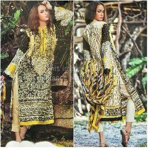 Designer Cambric Print Suit and Chiffon Printed Dupatta