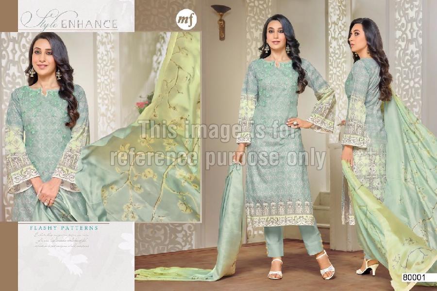 Pakistani Designer Suit with Chiffon Dupatta