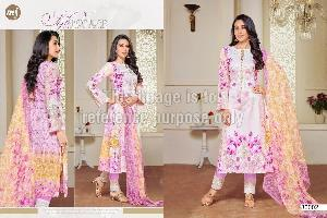 Lawn Cotton Embroidered Suit