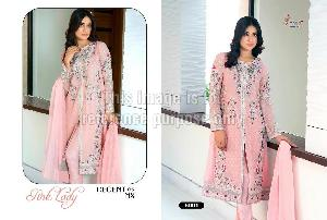Embroidered Designer Suit in Georgette