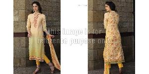 Golden Yellow Printed Suit