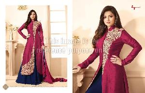 Designer Front Open Kurti With Palazzo