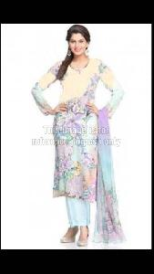 GFloral Print Kurti With Dupatta