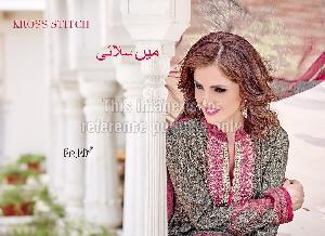 Pakistani Style Crepe Suit With Dupatta