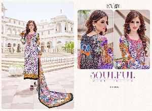 All Over Printed Pakistani Suit With Dupatta