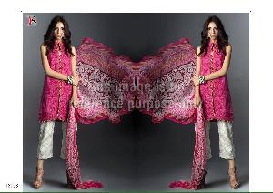 Pink Coloured Suit With Dupatta