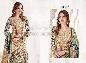 Digital Print Crepe Pakistani Suit With Dupatta