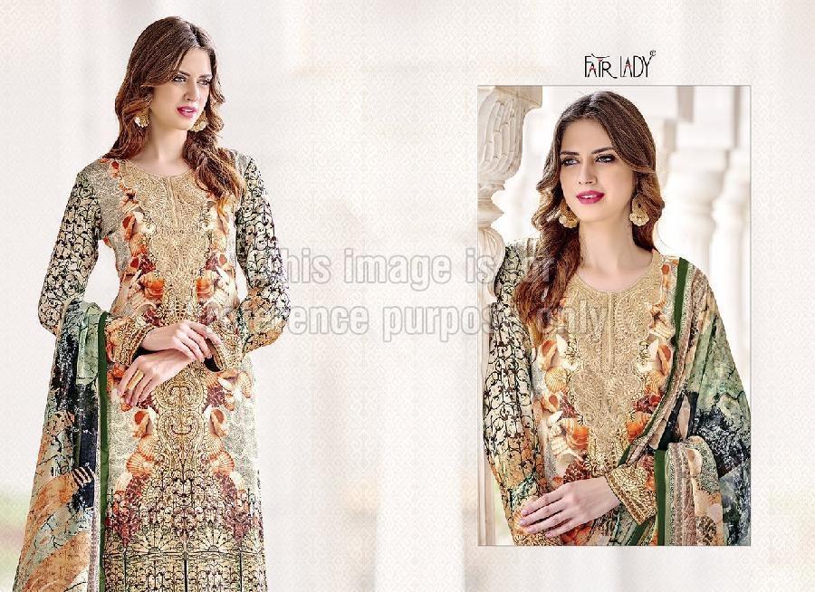 Digital Print Crepe Pakistani Suit With Dupatta