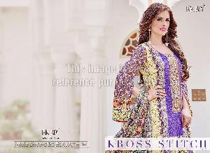 Designer Pakistani Crepe Printed Suit With Dupatta