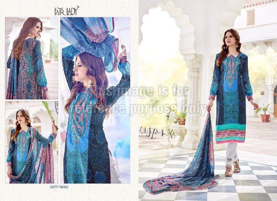 Printed Pakistani Suit With Dupatta