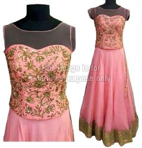 Baby Pink Coloured Lehenga with Embroidered Choli
