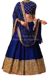 Navy Blue Coloured Lehenga with Dupatta