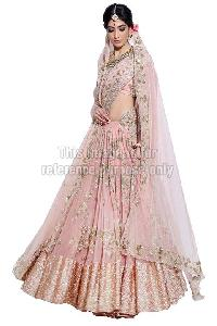 Flared Lehenga Saree with Embroidered Blouse