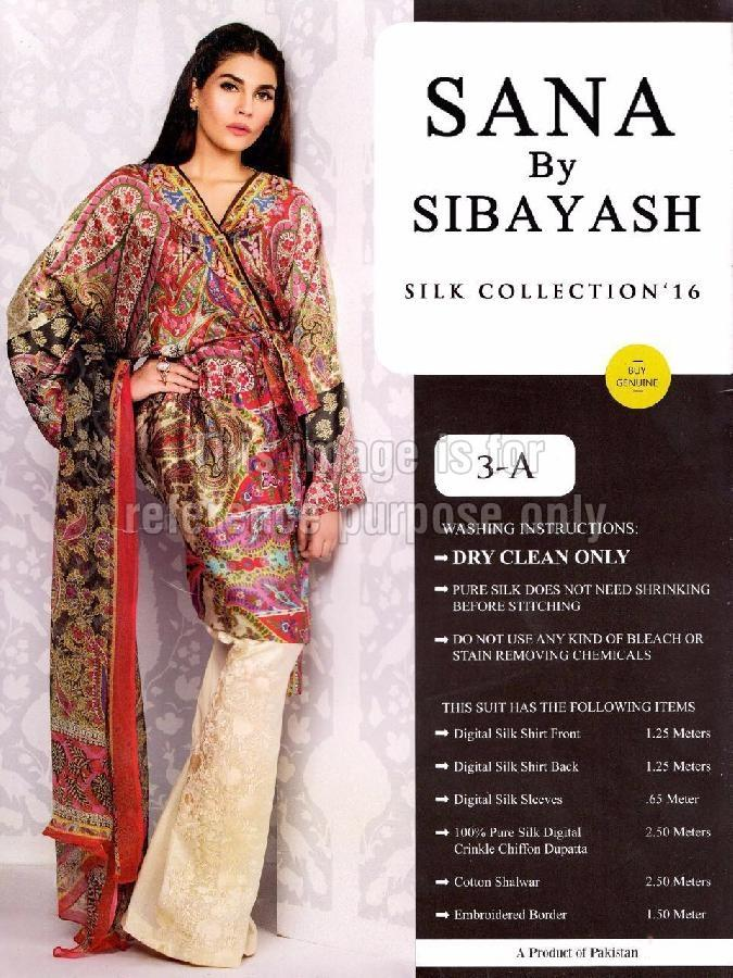 Multi-Coloured Pakistani Style Satin Shirt