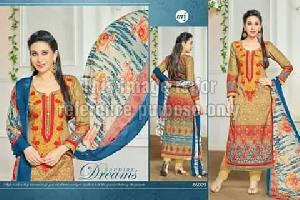 Multi-Coloured Simple Suit With Dupatta