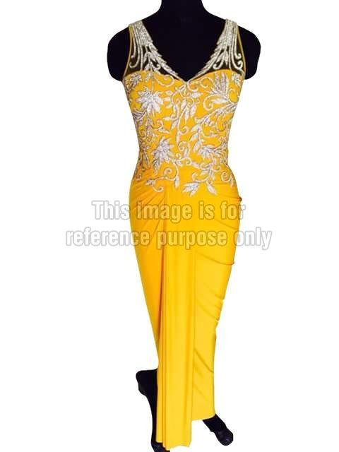Bright Yellow One-Piece gown