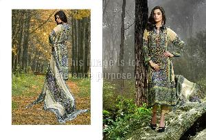 Printed Pashmina Suit with Dupatta