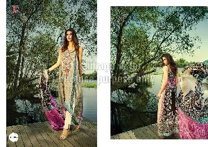 Printed Pure Pashmina Suit with Dupatta
