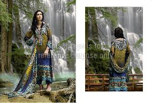 Pure Printed Pashmina Suit