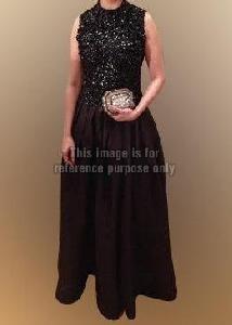 High Neckline Halter Dress