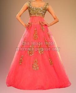 Coral Pink Frill Dress