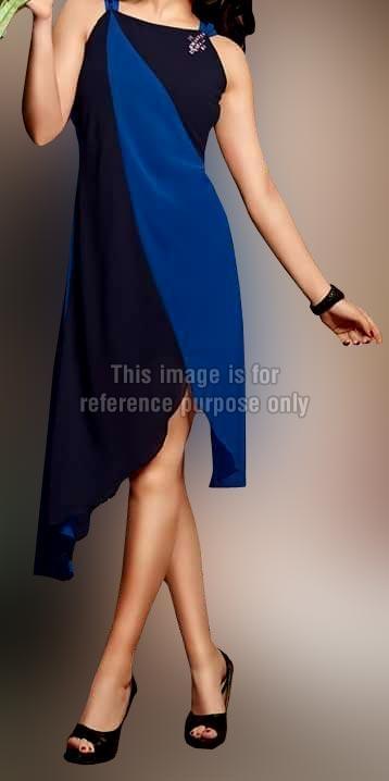 Chic Cut Black and Navy Blue Kurti