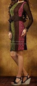 Stylish Net Sleeves Kurti