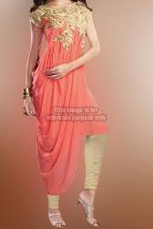 Well-designed Coral Pink Fusion Wear