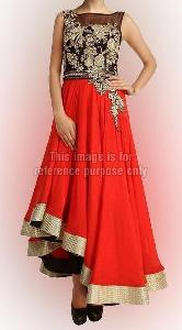 Appealing Black and Crimson Red Fusion Wear