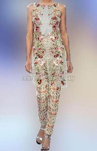 Floral Work Sleeveless Wear