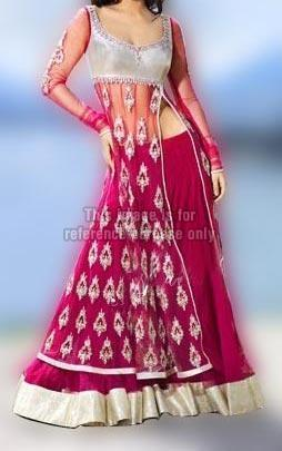 Majenta Designer Lehenga with Stylish Side Cut