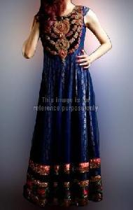 Heavy Work Navy Blue Dress