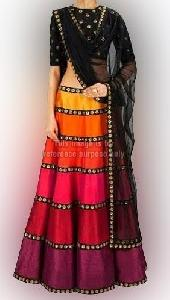 Multi-Colored Lehenga Choli with Dupatta