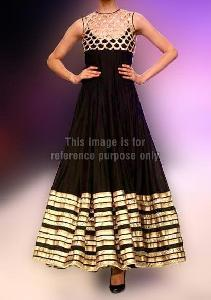 Black And Gold Pakistani Dress