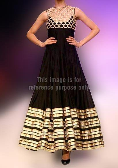Black And Gold Pakistani Dress